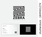 z letter. zebra logo. logo... | Shutterstock .eps vector #1849401274