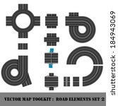 modern highway map toolkit. top ... | Shutterstock .eps vector #184943069