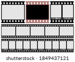the photo film and movie film...   Shutterstock .eps vector #1849437121
