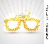 yellow paper sunglasses. | Shutterstock .eps vector #184945517