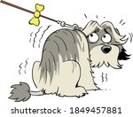 Cartoon Scared Dog Illustration ...