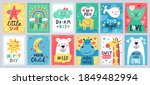 cute baby poster. kids play...   Shutterstock .eps vector #1849482994