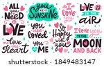 love lettering quotes. romantic ... | Shutterstock .eps vector #1849483147