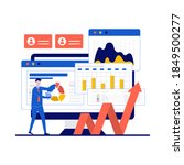 financial audit concept with... | Shutterstock .eps vector #1849500277