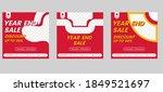 year end sale social media... | Shutterstock .eps vector #1849521697