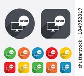 byod sign icon. bring your own... | Shutterstock .eps vector #184952819