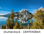 Scenic View Of Jenny Lake And...