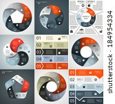 vector infographics set.... | Shutterstock .eps vector #184954334