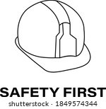 safety first wording with... | Shutterstock .eps vector #1849574344