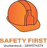 safety first wording with... | Shutterstock .eps vector #1849574374