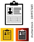 medical report   illustration | Shutterstock .eps vector #184957685