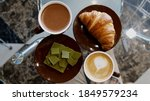 croissant  green chocolate a... | Shutterstock . vector #1849579234