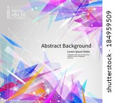 abstract background  bright... | Shutterstock .eps vector #184959509