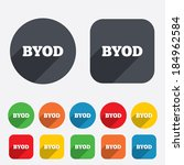 byod sign icon. bring your own... | Shutterstock .eps vector #184962584