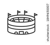 round sports stadium  linear... | Shutterstock .eps vector #1849650007