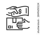 people exchange money for goods ... | Shutterstock .eps vector #1849650124