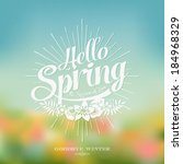 beautiful typographical spring... | Shutterstock .eps vector #184968329