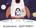 space travel  planets  stars.... | Shutterstock .eps vector #1849750897