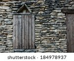 window with closed weathered... | Shutterstock . vector #184978937