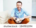 young handsome man with a... | Shutterstock . vector #184981094
