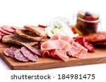 antipasti and catering platter... | Shutterstock . vector #184981475