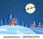new year and christmas winter... | Shutterstock .eps vector #1849823254