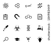vector black  science icons set ... | Shutterstock .eps vector #184983449