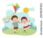 vector illustration cartoon of... | Shutterstock .eps vector #1849839301