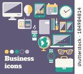 business office accessories... | Shutterstock .eps vector #184984814