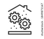 home settings icon. mechanical... | Shutterstock .eps vector #1849871167