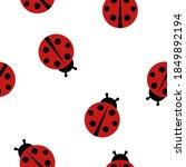 ladybug seamless pattern...   Shutterstock .eps vector #1849892194