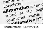 Small photo of Dictionary definition of the word Alliteration