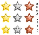 vector star icons set. gold ...