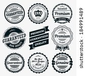 ribbon and badge vector sets   Shutterstock .eps vector #184991489