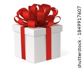 gift box with a red bow. new...   Shutterstock .eps vector #1849917607