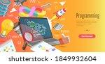 3d vector conceptual... | Shutterstock .eps vector #1849932604