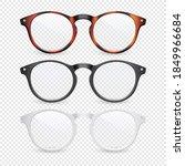 vector 3d realistic plastic... | Shutterstock .eps vector #1849966684