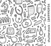 hand drawn seamless pattern of... | Shutterstock .eps vector #1849990954