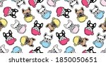 dog seamless pattern french... | Shutterstock .eps vector #1850050651