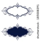 Regal Blue Ornate Frame Set - Vector