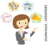 woman of financial planner   Shutterstock .eps vector #185009081