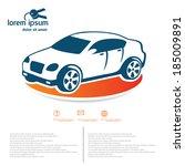 car template | Shutterstock .eps vector #185009891
