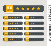 rating stars badges. vector... | Shutterstock .eps vector #185011379