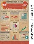 ussr style infographics | Shutterstock .eps vector #185011475
