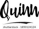 quinn female name brush...   Shutterstock .eps vector #1850124124