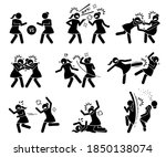 girls fighting in a cat fight...   Shutterstock .eps vector #1850138074