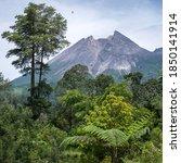 The Peak Of Mount Merapi As...
