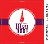 happy bhai dooj indian festival ... | Shutterstock .eps vector #1850151751
