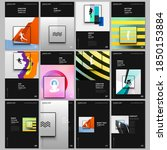 a4 brochure layout of covers... | Shutterstock .eps vector #1850153884