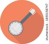 Banjo Vector Flat Colour Icon